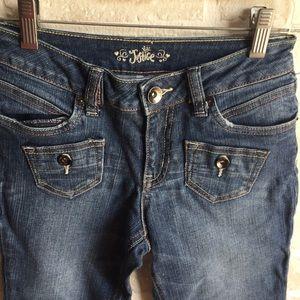 Girls Justice denim Capri pants size 14